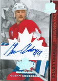 2008-09 The Cup Programme of Excellence GLENN ANDERSON 8/10 Auto Signature