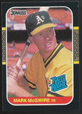 1987 Donruss #46 MARK McGWIRE Rookie RC  Baseball MLB 02480