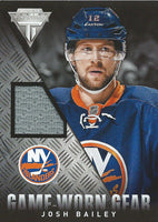 2013-14 Panini Titanium Game Gear JOSH BAILEY Jersey NHL 01968
