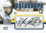 2009-10 ITG Heroes and Prospects PHILIPPE PARADIS Autographs 00542