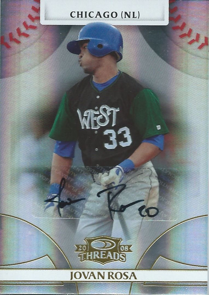 2008 Donruss Threads Gold JOVAN ROSA #/973 Auto Signatures 01497