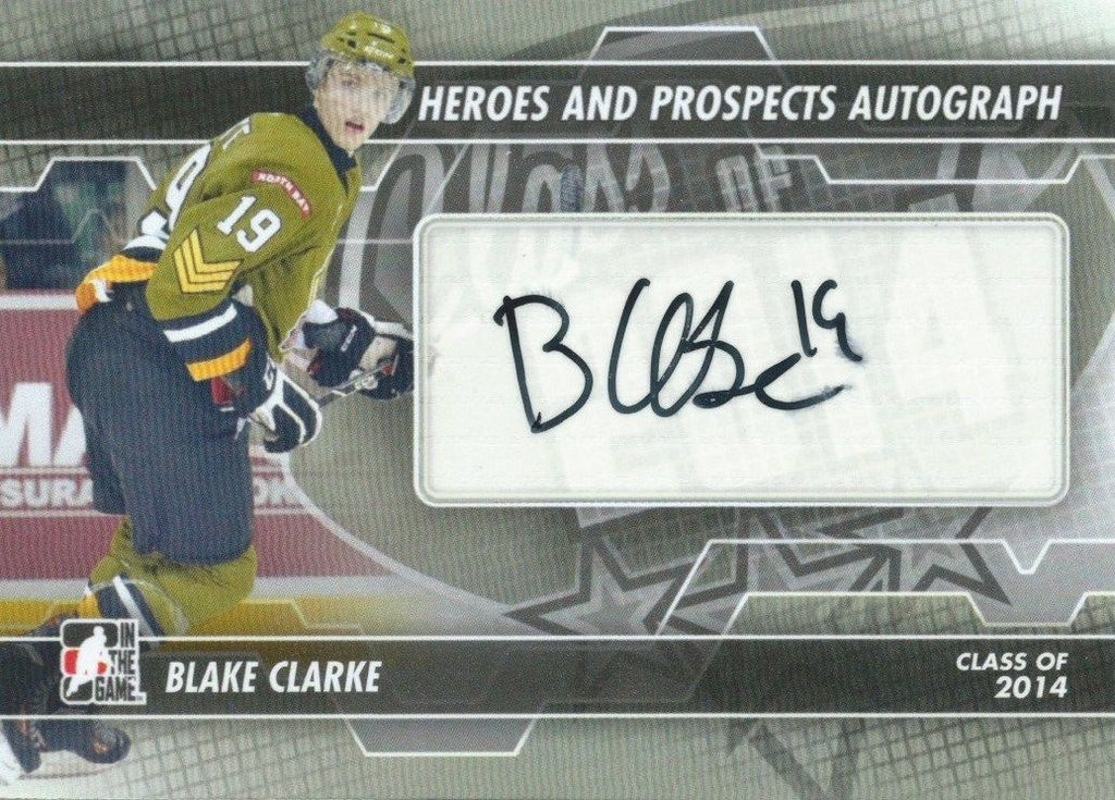 2013-14 ITG Heroes and Prospects BLAKE CLARKE Autograph Auto 00444