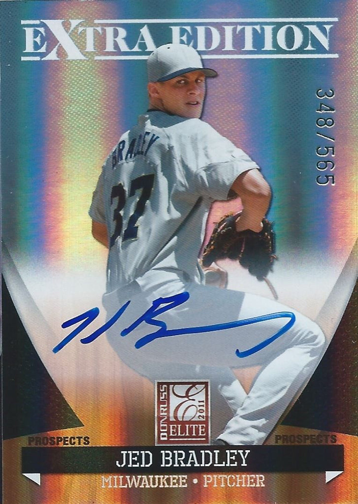 2011 Donruss Elite Extra Edition JED BRADLEY 348/565 Prospects Auto 01292