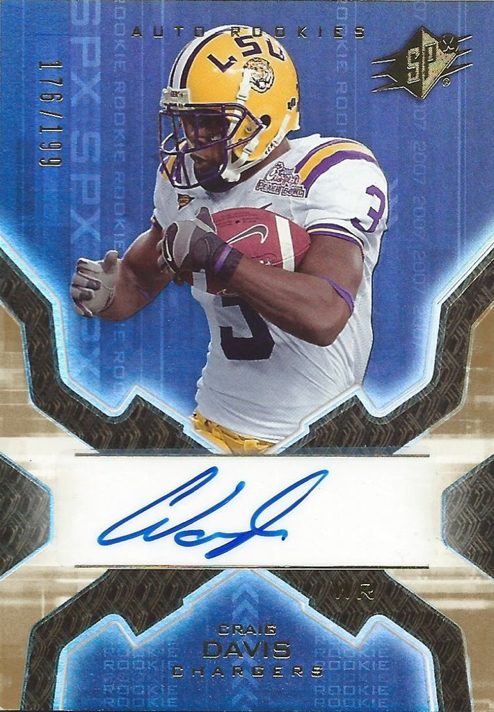 2007 SPX Gold Rookies $20 CRAIG SMITH 176/199 Auto Signature NFL RC 01035
