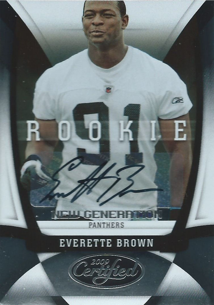 2009 Certified EVERETTE BROWN 194/299 Auto RC  Rookie Donruss NFL 01025