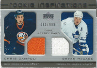 2005-06 Upper Deck Rookie Update CAMPOLI/MCCABE Jersey 93/999 01659