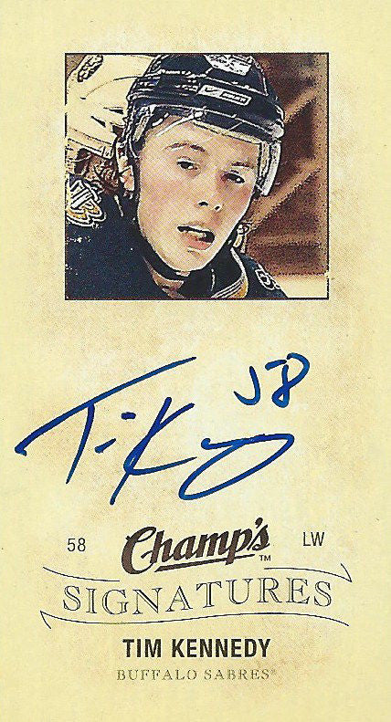 2009-10 Upper Deck Champs Signatures TIM KENNEDY Autograph NHL 01688