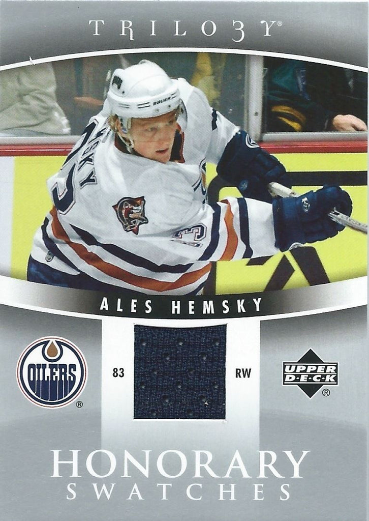 2006-07 UD Trilogy Honorary Swatches ALES HEMSKY Jersey $15 Upper Deck