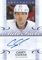 2014-15 Upper Deck Auto Facts CASEY CIZIKAS Autograph Signature NHL 01692