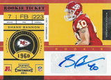 2011 Playoff Contenders SHANE BANNON RC Autograph Signature Rookie 01086