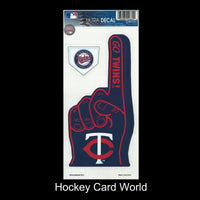Minnesota Twins Multi-Use Decal/Sticker 2 Pack Finger/Base MLB 4