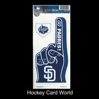San Diego Padres Multi-Use Decal/Sticker 2 Pack Finger/Base MLB 4