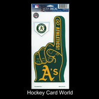 Oakland Athletics Multi-Use Decal/Sticker 2 Pack Finger/Base MLB 4