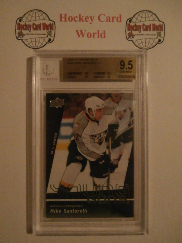2009-10 Upper Deck Young Guns MIKE SANTORELLI RC BGS 9.5 Predators