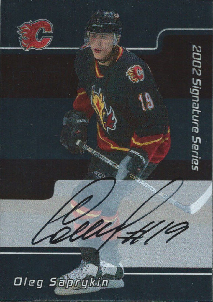 2001-02 BAP Signature Series OLEG SAPRYKIN Auto NHL Hockey 00333