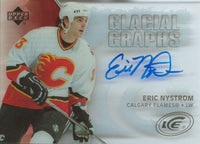 2005-06 UD Ice Glacial Graphs ERIC NYSTROM Auto NHL Hockey 00164