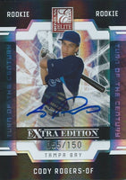 2009 Donruss Elite Extra Edition CODY ROGERS 55/150 Auto Turn of  01403
