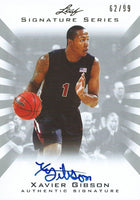 2012-13 Leaf Signature Silver XAVIER GIBSON 62/99  Autograph  01202