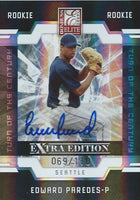 2009 Donruss Elite Extra Edition EDWARD PAREDES #/110 Auto Turn of  01407