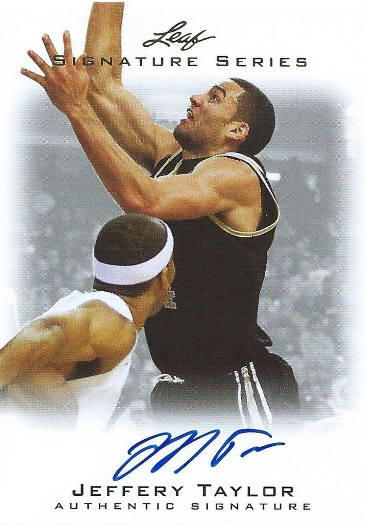 2012-13 Leaf Signature JEFFERY TAYLOR Auto Autograph NBA Authentic 01206