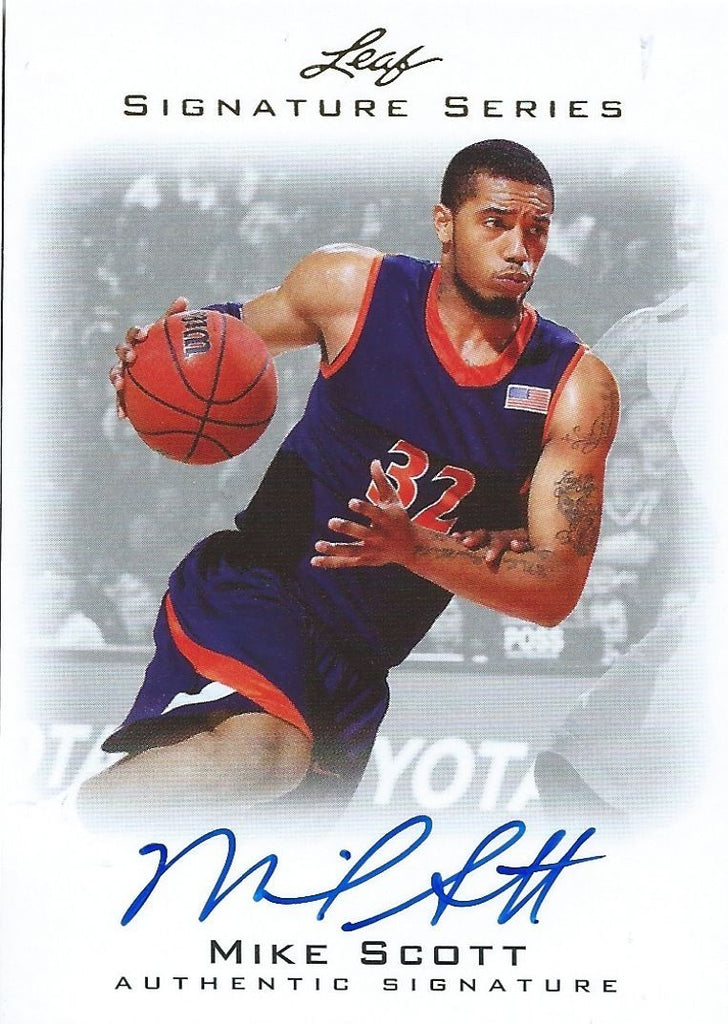 2012-13 Leaf Signature MIKE SCOTT Auto Autograph NBA Authentic 01203