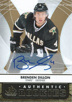 2012-13 SP Game Used Gold BRENDEN DILLON Auto Rookie Dallas RC 00055