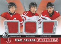 2012-13 SP Game Used Fabrics SCHWARTZ-CIZIKAS-ASHTON Team Canada UD 00780