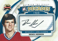 2011-12 ITG Between the Pipes DENNIS HERRON Autograph Auto Decades 00436