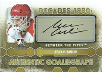 2012-13 ITG Between the Pipes REJEAN LEMELIN Autograph Auto Decades 00431