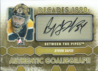 2012-13 ITG Between the Pipes BRYON DAFOE Autograph Auto Decades 00430