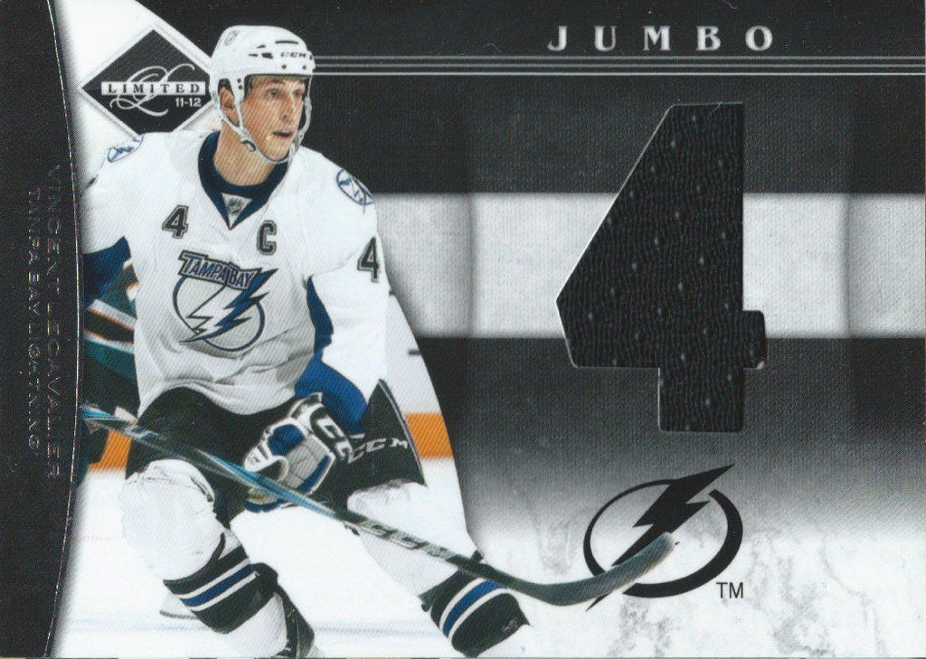 2011-12 Panini Limited Jumbo Number VINCENT LECAVALIER 39/49 Jersey 01806