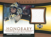 2005-06 Upper Deck Trilogy Honorary Swatches ANDREW RAYCROFT Jersey 02561