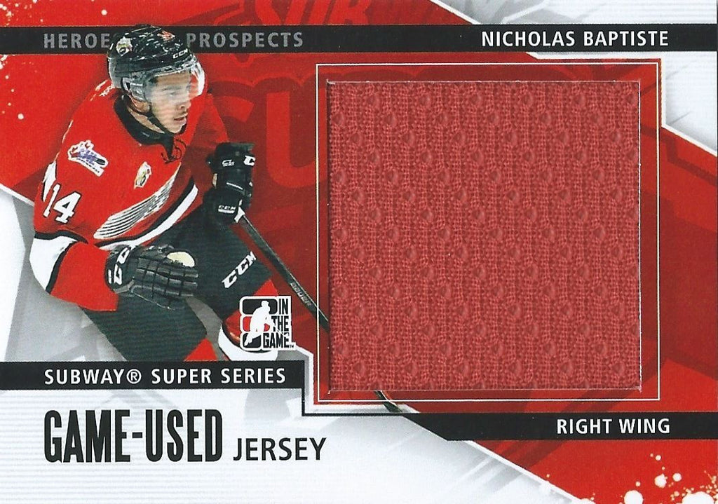 2013-14 ITG Heroes and Prospects NICHOLAS BAPTISTE Jersey /160 02258