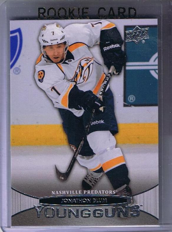 2011-12 Upper Deck YG JONATHAN BLUM Young Guns Rookie Predators 02243