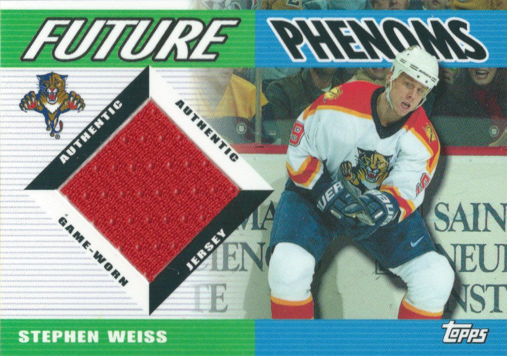 2003-04 Topps Traded Future Phenoms STEPHEN WEISS Jersey 02615