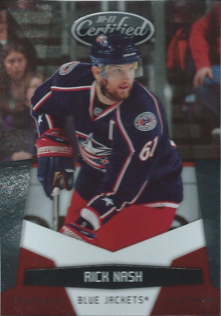 2010-11 Certified Platinum Red RICK NASH 614/999 Panini Blue Jackets 00606