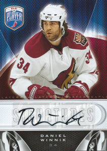 2009-10 Upper Deck Be A Player DANIEL WINNIK Signature Autograph NHL 02645