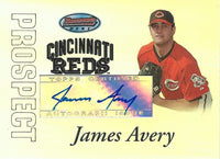 2007 Bowman's Best Prospects JAMES AVERY Auto Topps Reds Autograph 01301