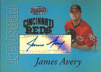 2007 Bowman's Best Prospects Blue JAMES AVERY 43/99 Auto Topps Reds 01302