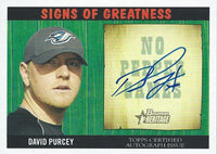 2005 Bowman Heritage Signs Of Greatness DAVID PURCEY Auto 01295