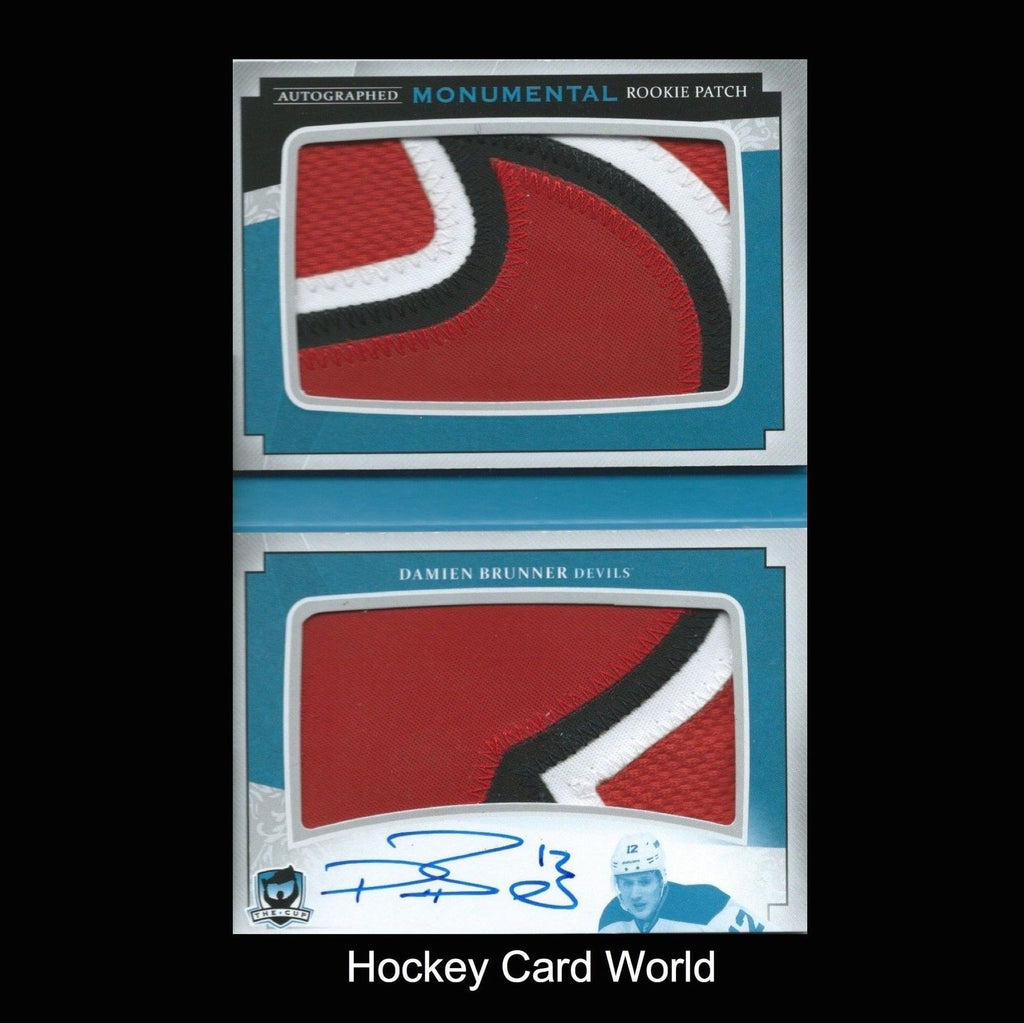 2013-14 The Cup Monumental DAMIEN BRUNNER 2/5 Rookie Patch Auto UD Booklet