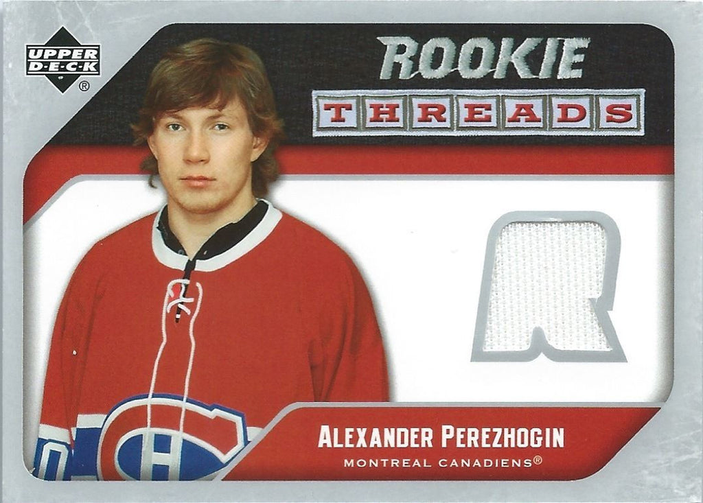 2005-06 Upper Deck Rookie Threads ALEXANDER PEREZHOGIN Jersey 00787