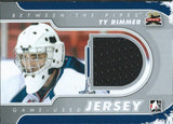 2011-12 Between The Pipes Jersey Silver TY RIMMER /140* Used Jersey 02280