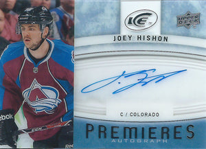 2014-15 Upper Deck Ice JOEY HISHON Autograph Signature Auto 01741