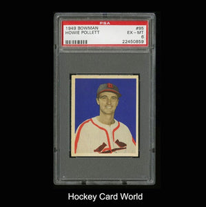 1949 Bowman #95 HOWIE POLLET PSA 6 Rookie Baseball Card MLB