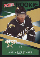 2010-11 Victory Black MAXIME FORTUNES Rookie /5 **SSP** Dallas Stars 00902