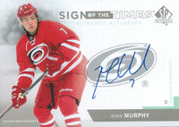 2013-14 SP Authentic RYAN MURPHY Sign of Times Auto Signature 01786