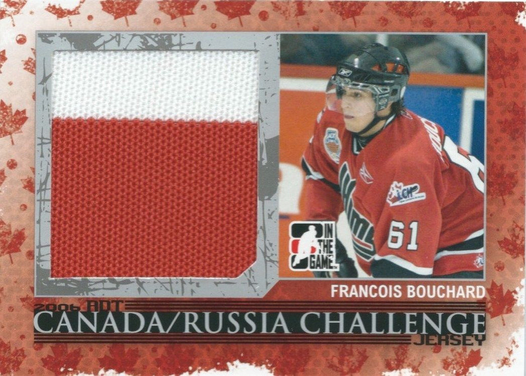 2007-08 ITG Heroes and Prospects FRANCOIS BOUCHARD /50 Canada Jersey 02265