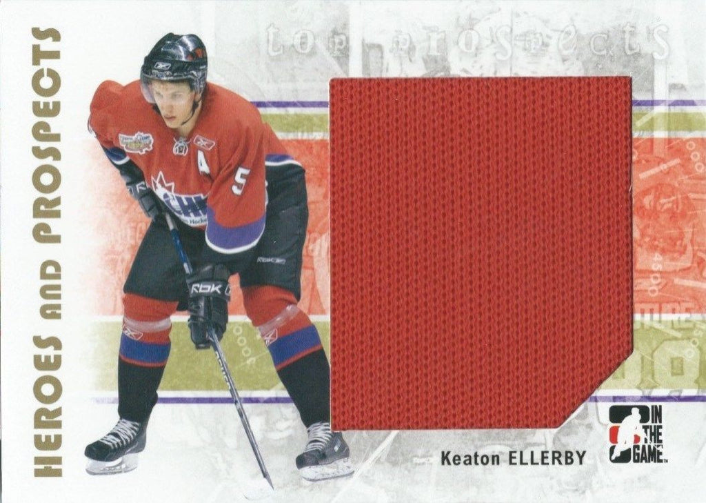 2007-08 ITG Heroes and Prospects KEATON ELLERBY TP Jersey 02309