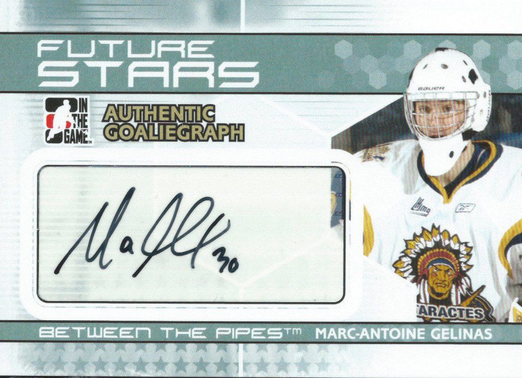 2009-10 Between the Pipes Autograph MARC-ANTOINE GELINAS Auto 00472